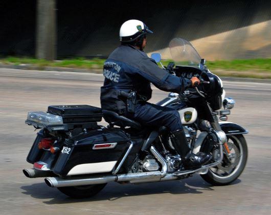 cop on bike
