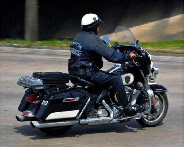Police officer on a motorcycle