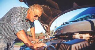 Man fixing his own car