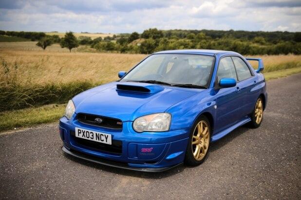 Blue Subaru WRX STI - 2nd generation