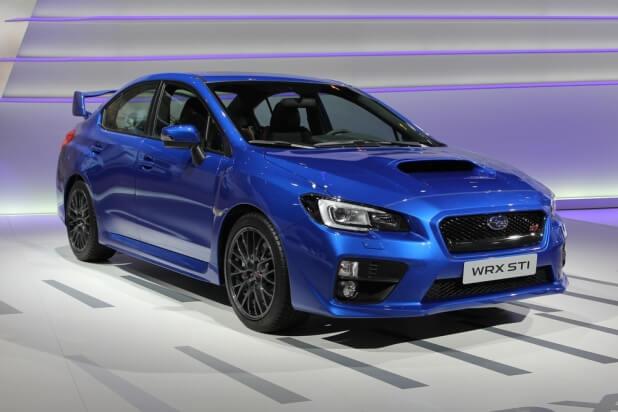 Blue Subaru Impreza WRX STI - 4th generation