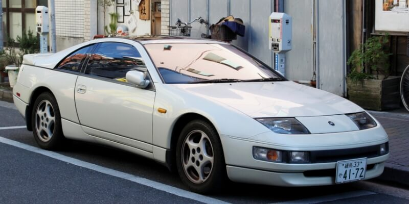 White Nissan 300ZX Twin Turbo