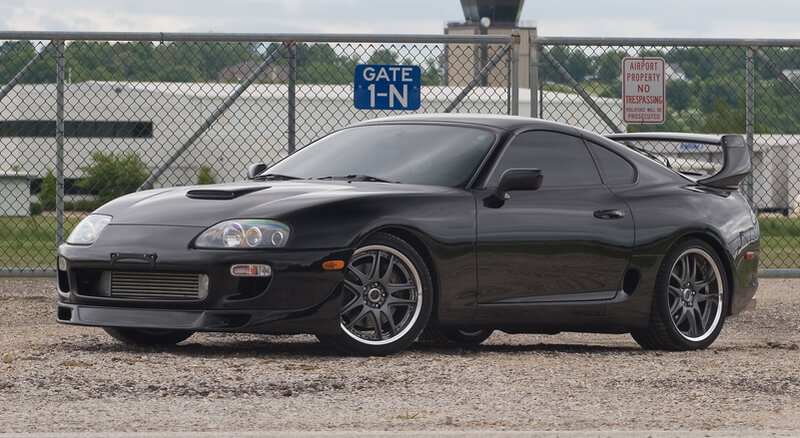 Black Toyota Supra MK4 Twin Turbo