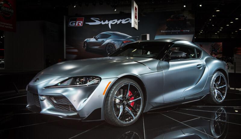 Silver Toyota Supra MKV 2020