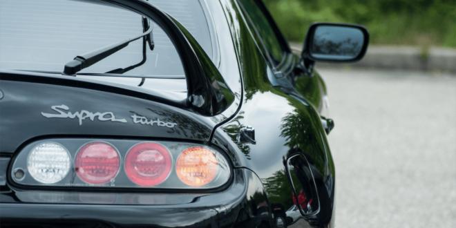 Black Toyota Supra MK4