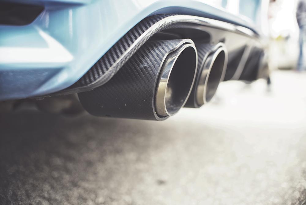 rear exhaust carbon fiber tips
