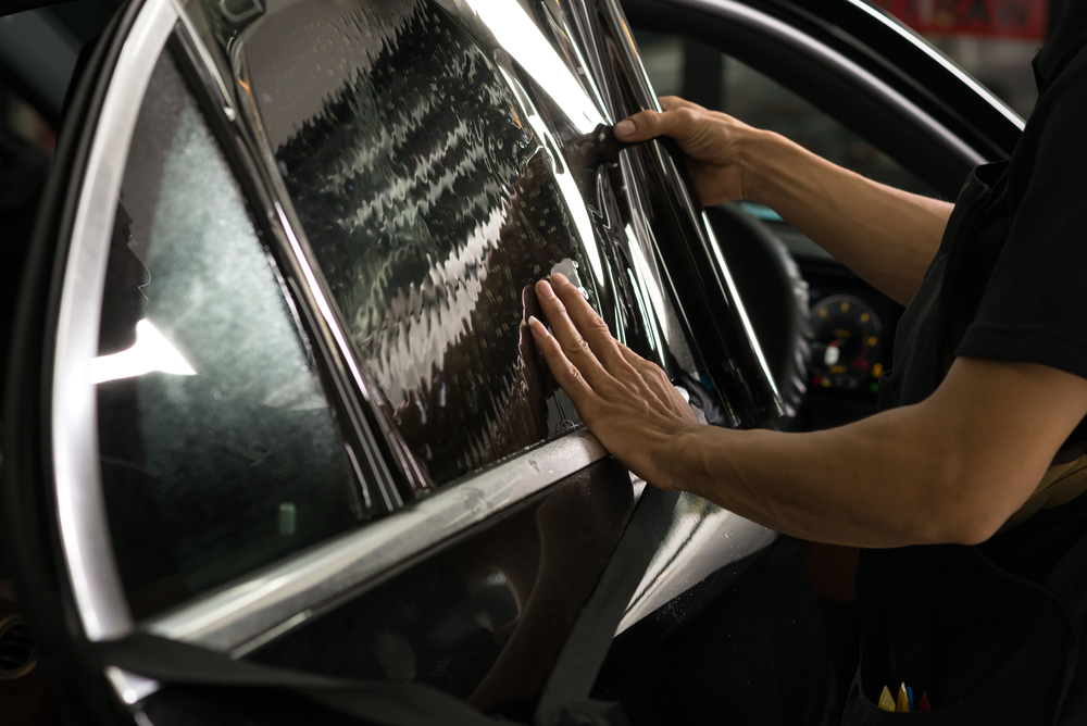 applying window tint