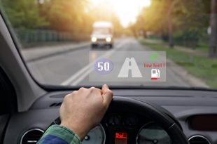heads-up display with speed and traffic information
