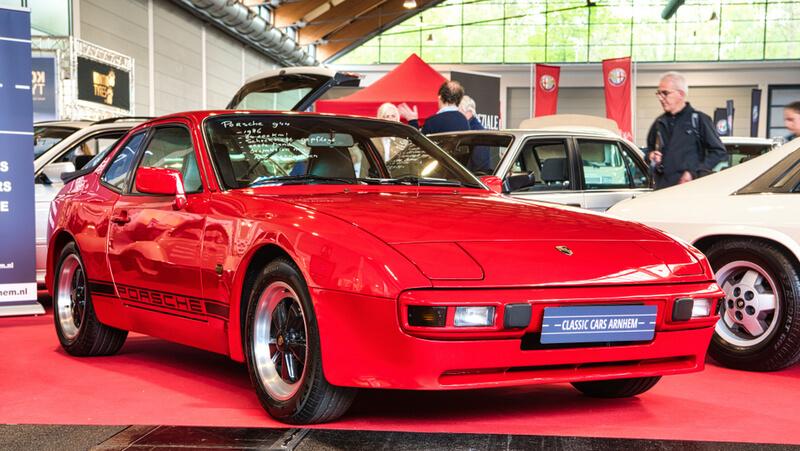 Red Porsche 944 Coupe