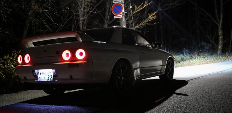 White Nissan Skyline GT-R R32