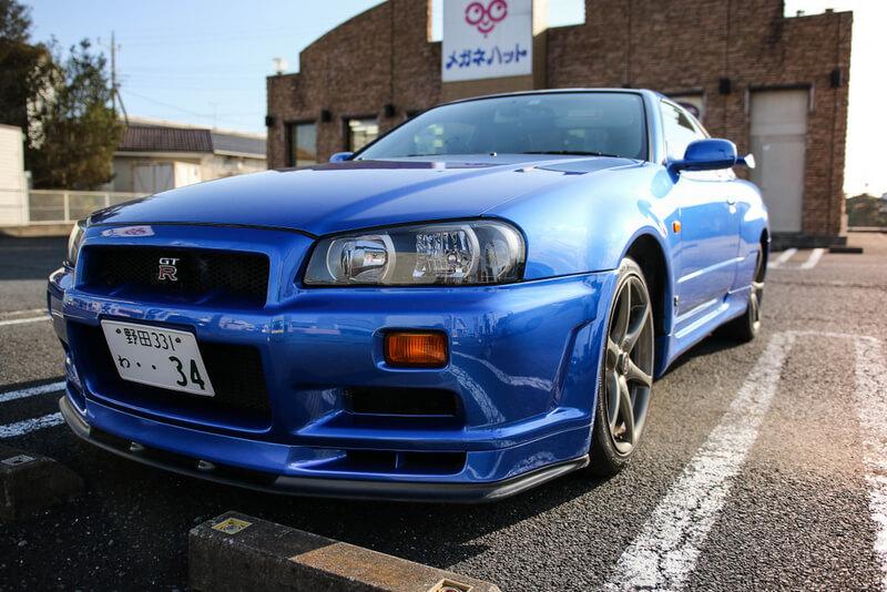 Skyline R34 GT-R bayside blue
