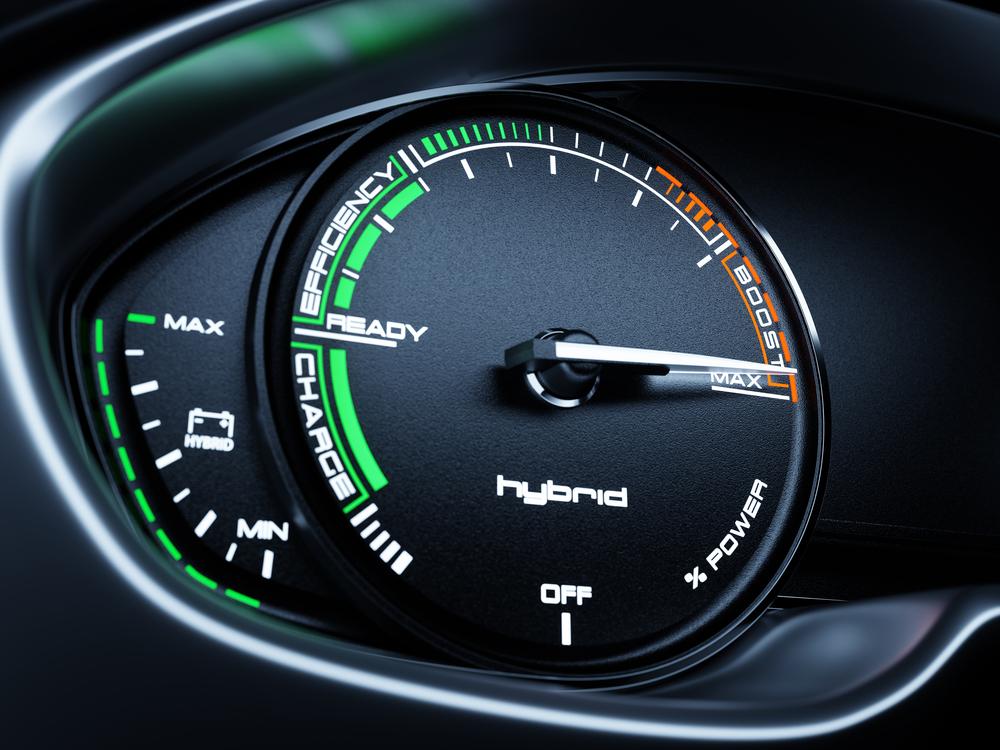 hybrid vehicle instrument cluster