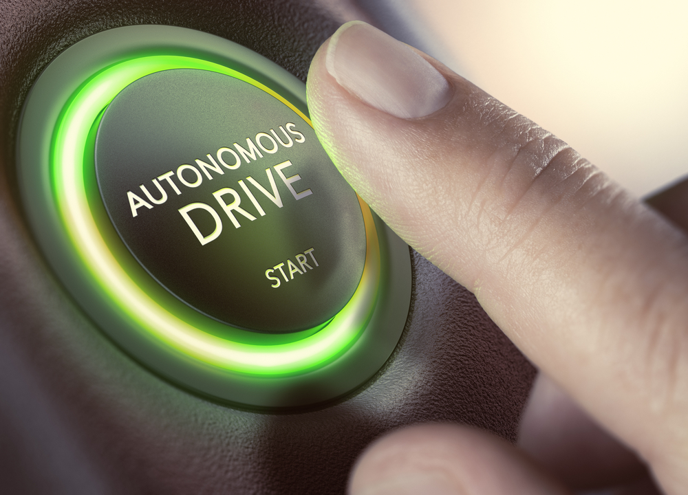 autonomous driving start button