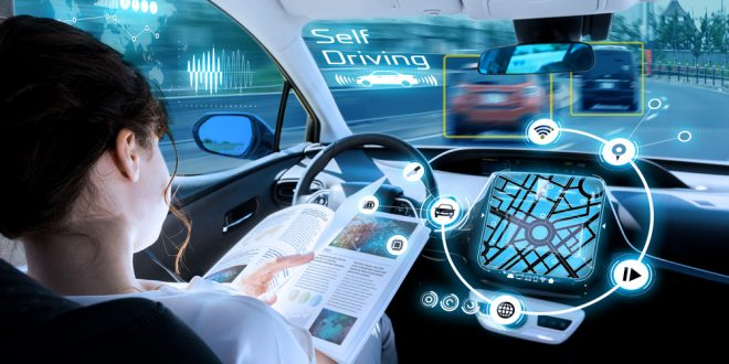 reading in a self-driving vehicle