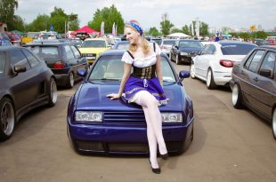 Blue Volkswagen Corrado