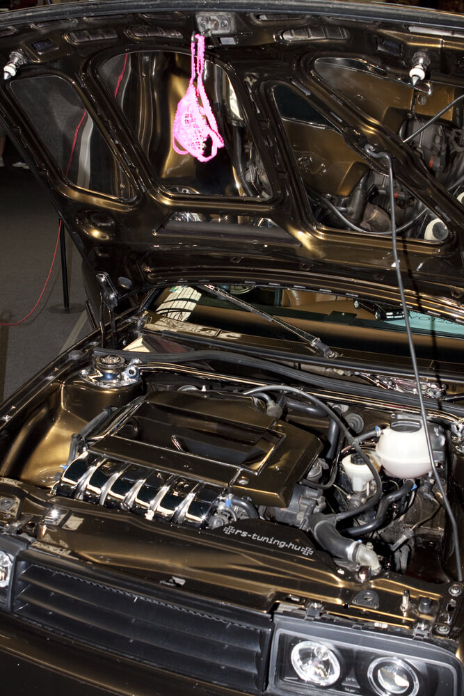Black Volkswagen Corrado equipped with a VR6 engine