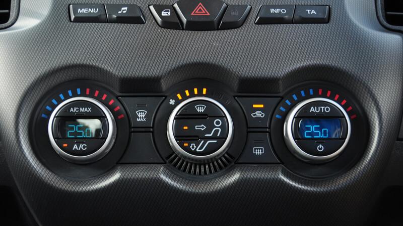 car temperature control panel