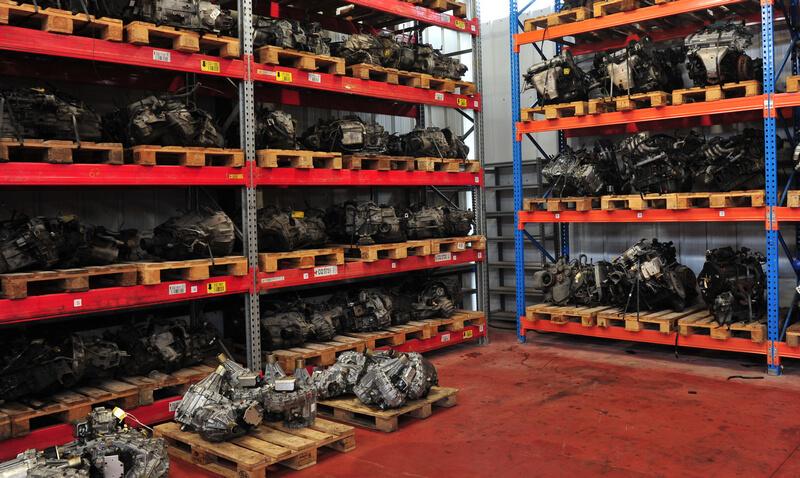 Junkyard car parts warehouse