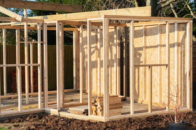Tool shed frame