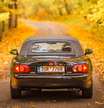 Rear view of a Mazda Miata MX-5 NB
