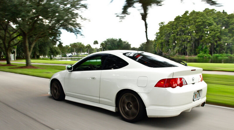 White Acura RSX