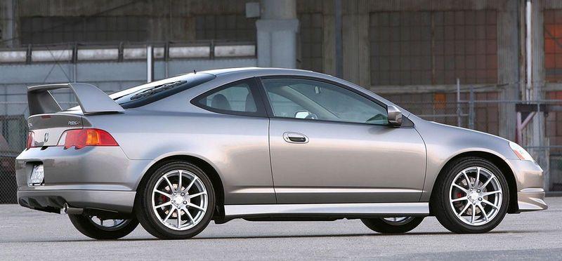 Silver Acura RSX