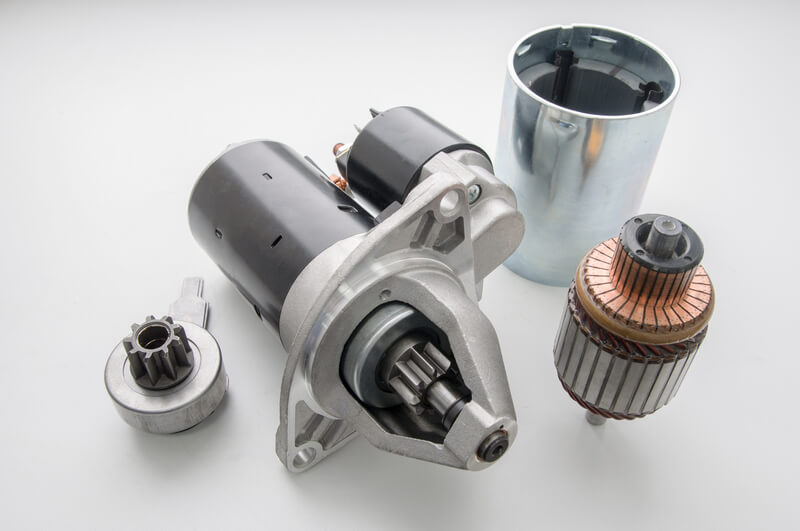 Internal components of an automotive starter