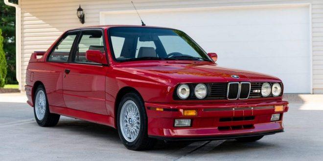 red 1988 BMW E30 M3
