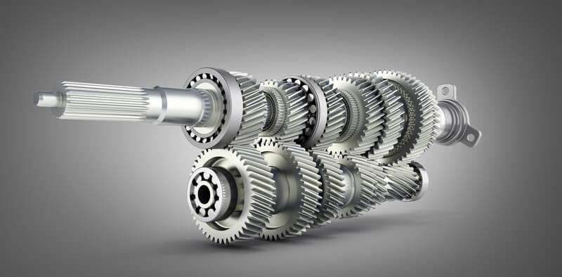 3D illustration of a manual transmission