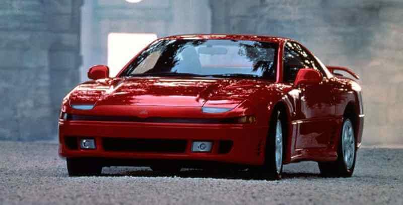 Red Mitsubishi 3000GT