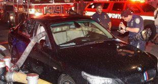 Fire Hose Through BMW