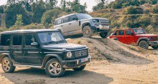 Wrangler VS G-Class VS Defender Off-Road test