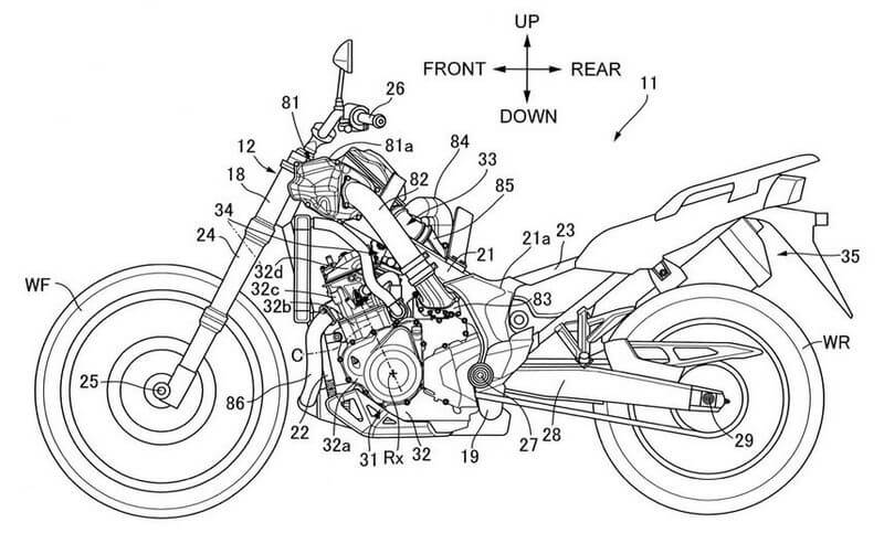 Honda Africa Twin Supercharger Patent