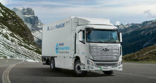 Hyundai delivery Xcient fuel cell trucks