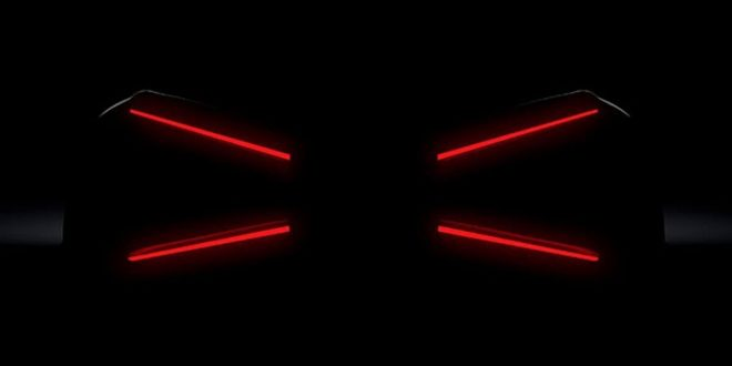 "Bugatti Teases a new Hypercar with ""X-Wing"" Taillights"