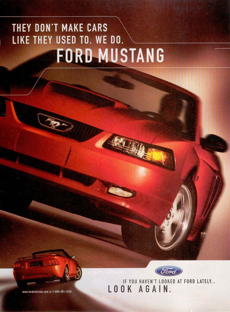 Ford Mustang SVT Cobra Convertible - ad