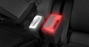 Škoda illuminated seatbelt buckles