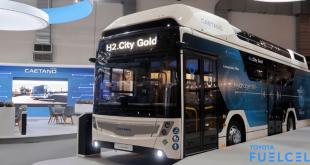 Toyota Caetano Hydrogen fuel cell FCEV bus
