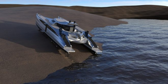 Lazzarini Showcases Pagurus Solar-Powered Amphibious Catamaran