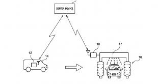 Toyota self-washing car patent